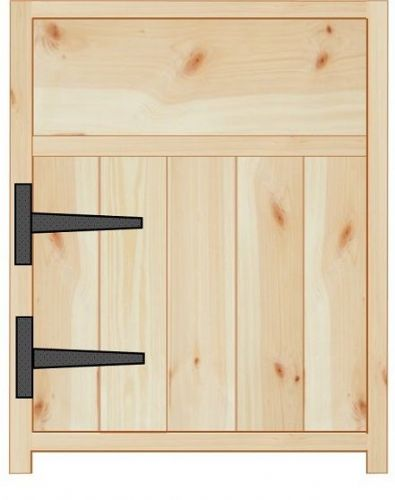 Rustic Farmhouse 500mm Base Cabinet with door and drawer